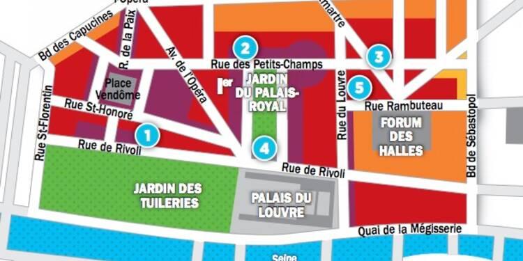 Immobilier à Paris : les prix, rue par rue, dans les 1er et 2ème arrondissements