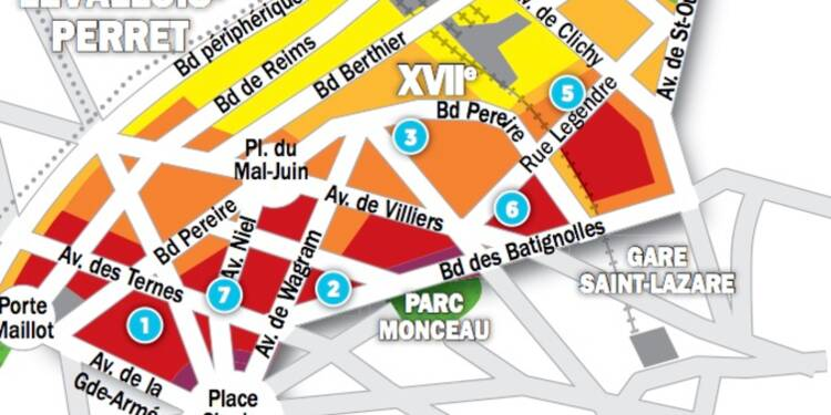 Immobilier à Paris : les prix, rue par rue, dans le 17ème arrondissement
