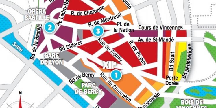 Immobilier à Paris : les prix, rue par rue, dans les 11ème et 12ème arrondissements