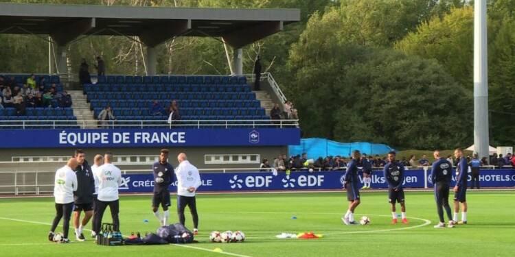 Mondial-2018: les Bleus à Clairefontaine avant la Bulgarie