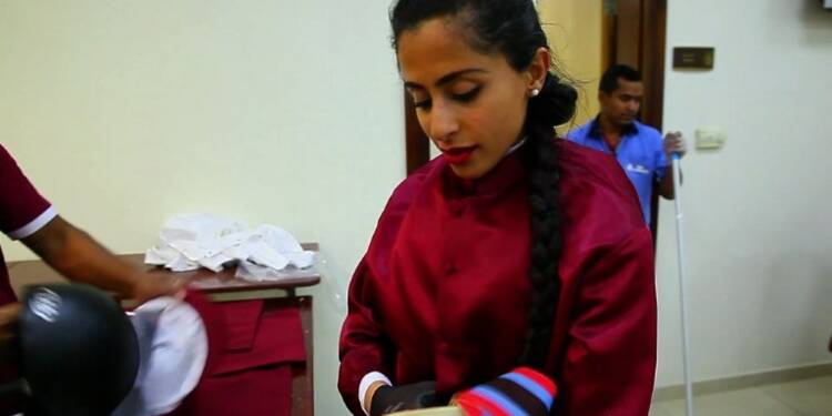 Une femme jockey écrit l'histoire au Qatar