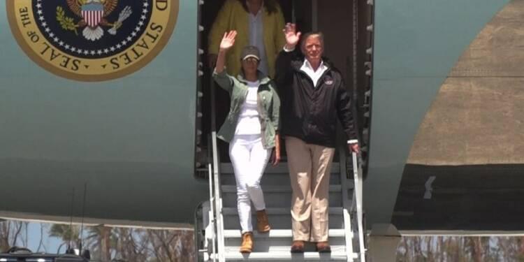 Donald Trump est arrivé à Porto Rico pour un test de leadership