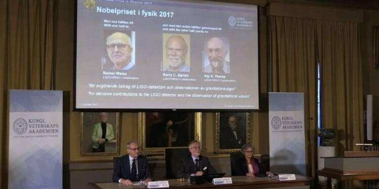 Le Nobel de physique 2017 à trois Américains