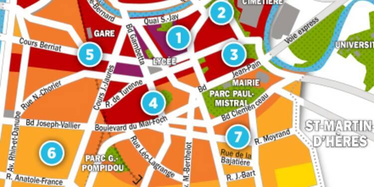 Immobilier à Grenoble : la carte des prix 2017