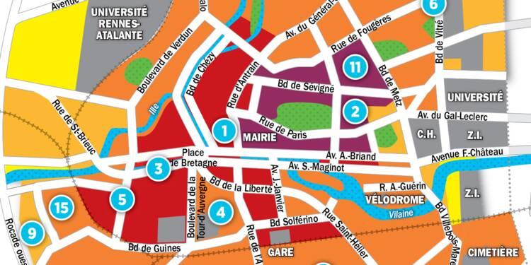 Immobilier à Rennes : la carte des prix 2017