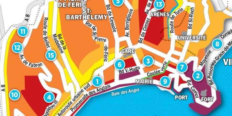 Immobilier à Nice : la carte des prix 2017