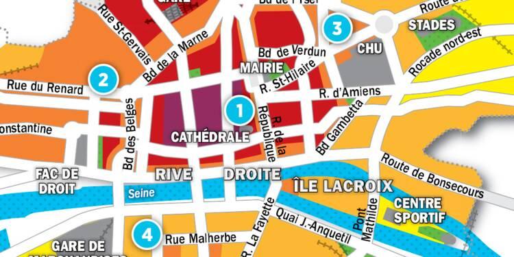Immobilier à Rouen : la carte des prix 2017