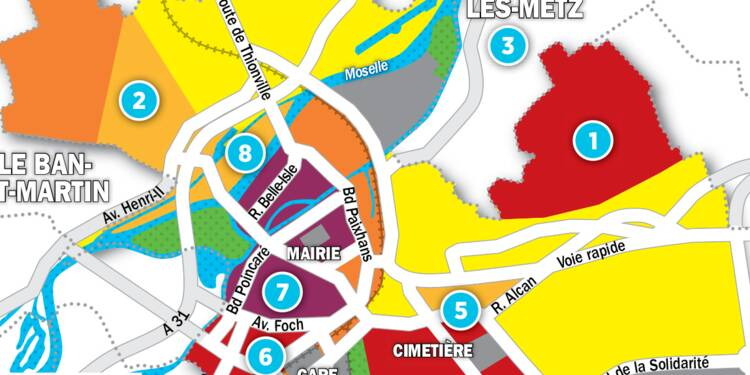 Immobilier à Metz : la carte des prix 2017