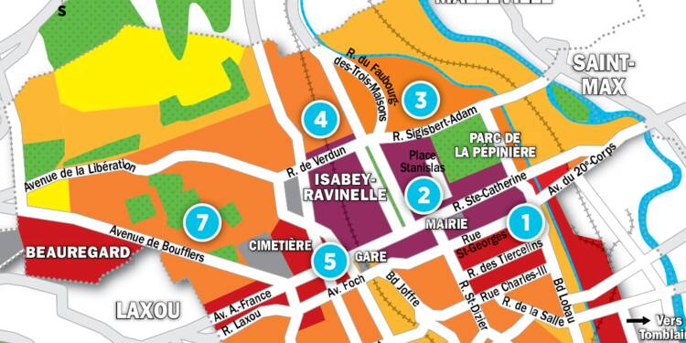 Immobilier à Nancy : la carte des prix 2017