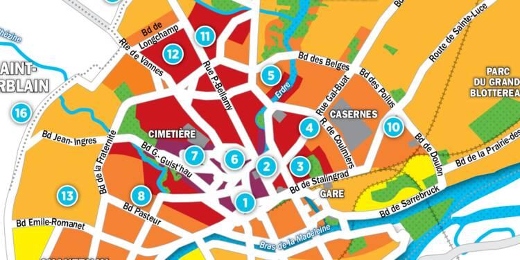 Carte Quartier Monselet Nantes.Immobilier A Nantes La Carte Des Prix 2017 Capital Fr