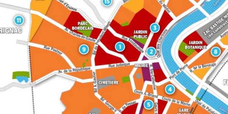 Immobilier à Bordeaux : la carte des prix 2017