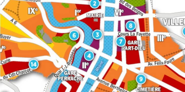 Immobilier à Lyon : la carte des prix 2017