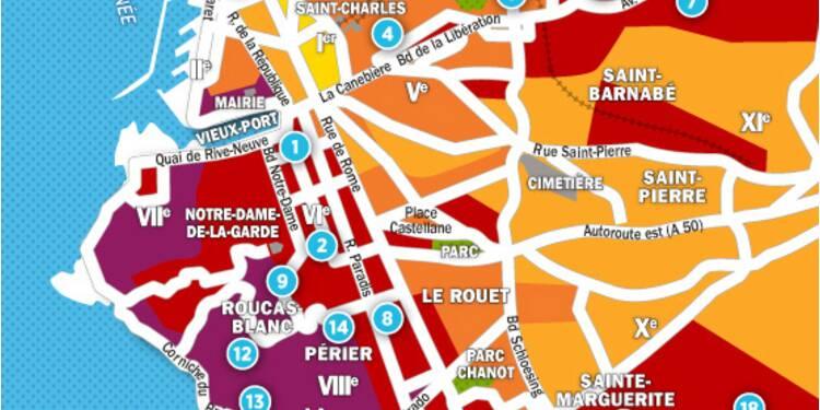 Immobilier à Marseille : la carte des prix 2017