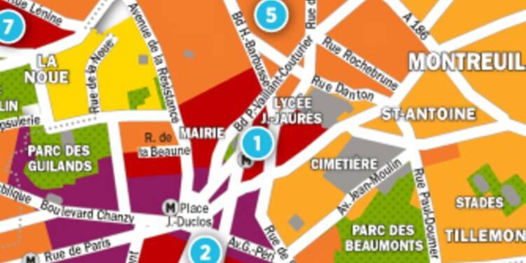 Immobilier à Montreuil et Bagnolet : la carte des prix 2017