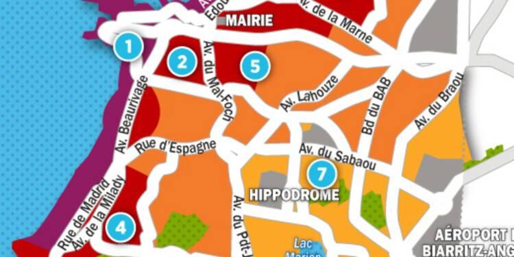 Immobilier à Biarritz : la carte des prix 2017
