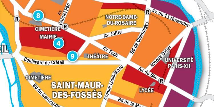 Immobilier à Nogent, Joinville-Le-Pont et St-Maur : la carte des prix 2017