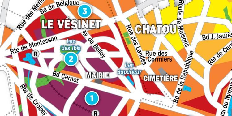Immobilier au Vesinet et Chatou : la carte des prix 2017