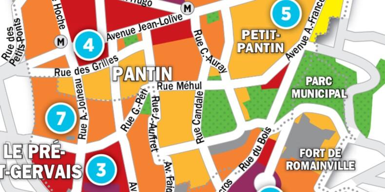 Immobilier au Pré-Saint-Gervais, aux Lilas et à Pantin : la carte des prix 2017