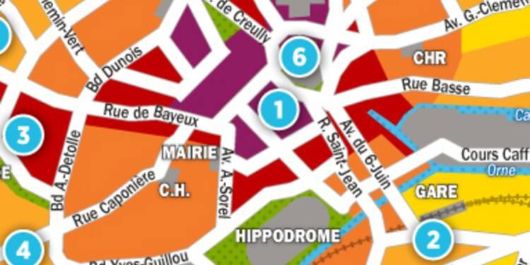 Immobilier à Caen : la carte des prix 2017