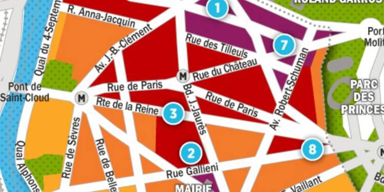 Immobilier à Boulogne-Billancourt : la carte des prix 2017