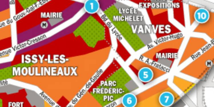 Immobilier à Issy-les-Moulineaux et Vanves : la carte des prix 2017