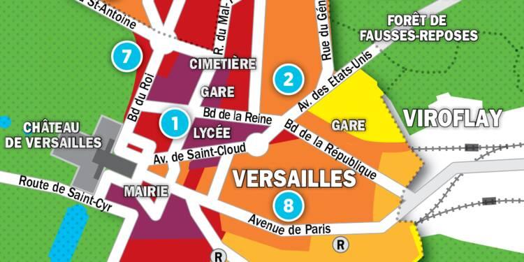 Immobilier à Versailles, au Chesnay et La Celle-St-Cloud : la carte des prix 2017