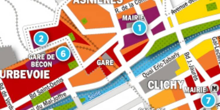 Immobilier à Clichy, Asnières et Courbevoie : la carte des prix 2017