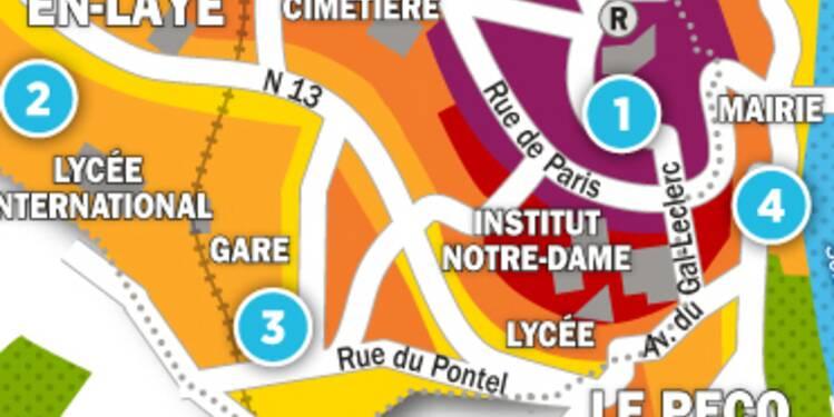 Immobilier à Marly-le-Roi, le Pecq et St-Germain : la carte des prix 2017