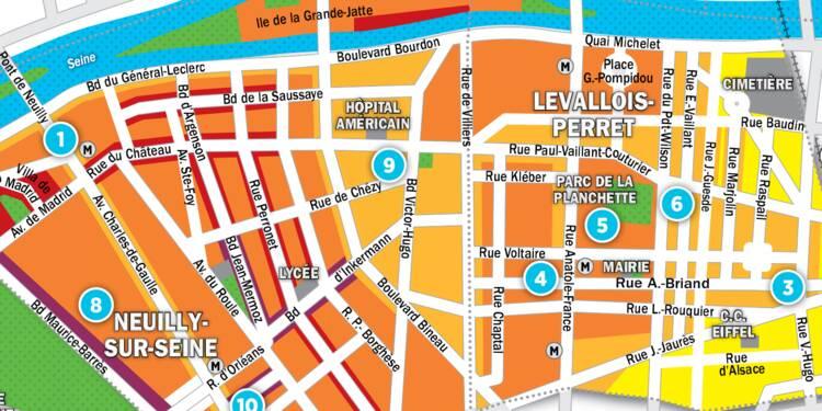 Immobilier à Neuilly et Levallois-Perret : la carte des prix 2017