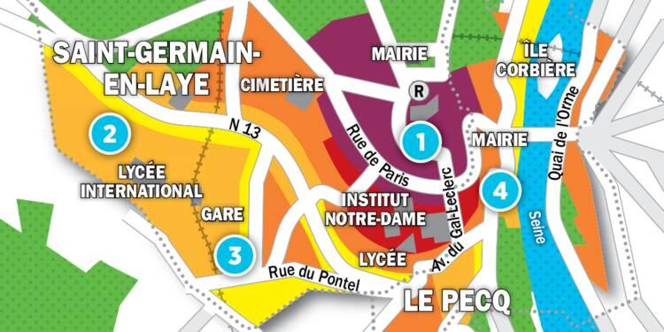 Immobilier à Marly-le-Roi, Le Pecq, St-Germain : la carte des prix 2017