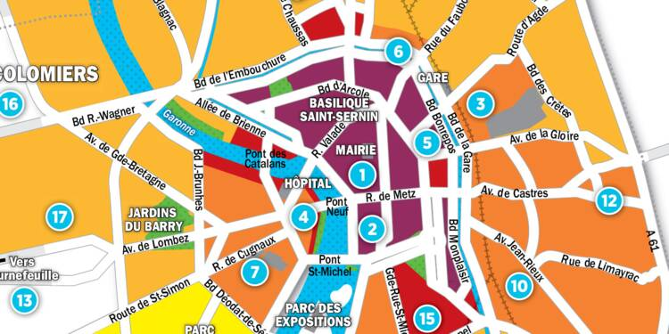 Immobilier à Toulouse : la carte des prix 2017