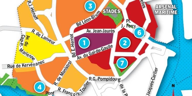 Immobilier à Lorient : la carte des prix 2017