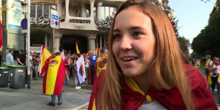 Manifestation pour l'unité à Barcelone pour la fête nationale