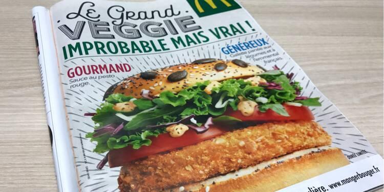 Grand Veggie : le burger végétarien de McDo est beaucoup plus calorique que le Big Mac !