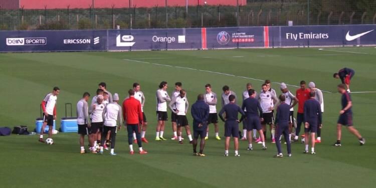 Foot: le PSG s'entraîne avant d'affronter Anderlecht mercredi