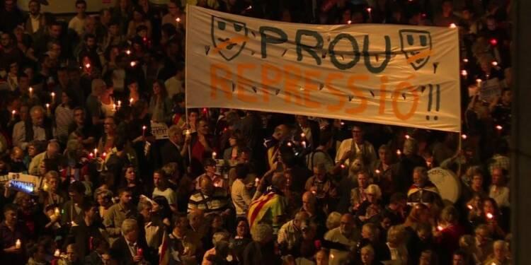 Espagne: manifestation contre l'incarcération d'indépendantistes