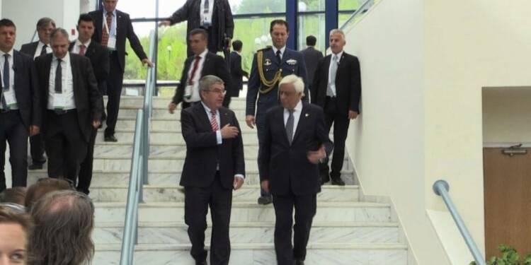 Le président du CIO en Grèce pour le départ de la flamme
