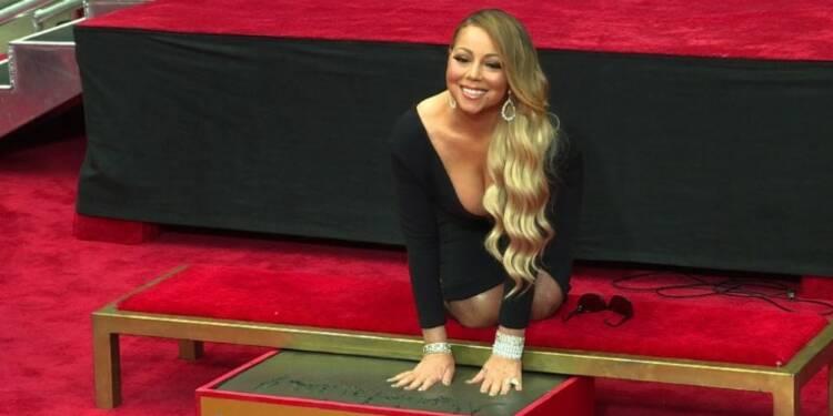 La chanteuse Mariah Carey honorée à Hollywood