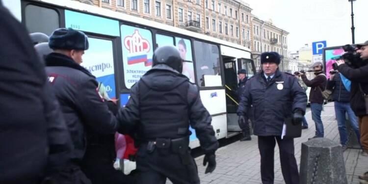 Russie:arrestations lors d'une manifestation de l'extrême gauche
