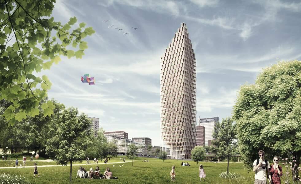 La tour Västerbroplan de Stockholm (Suède)