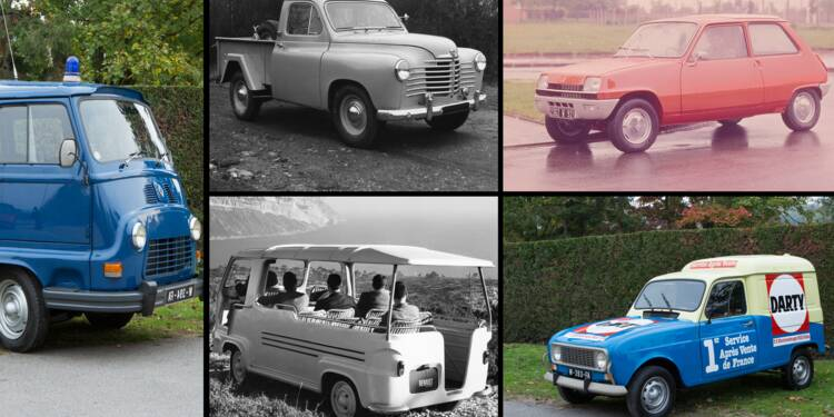Estafette, 4L, R5 électrique...  plus de 100 ans de véhicules utilitaires Renault en images