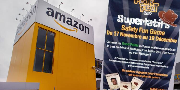 """Un """"jeu"""" pour dénoncer ses collègues à l'entrepôt Amazon de Lille"""