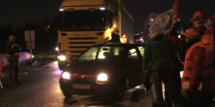 Manifestation de routiers à la frontière franco-belge