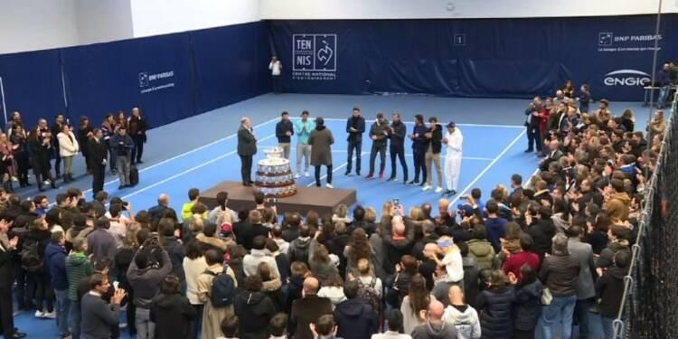 Coupe Davis: retour de l'équipe de France à Paris