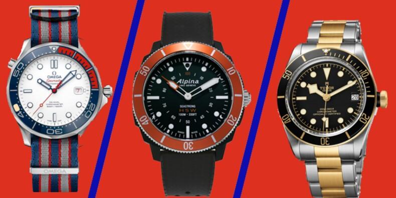 12 montres de plongée au banc d'essai