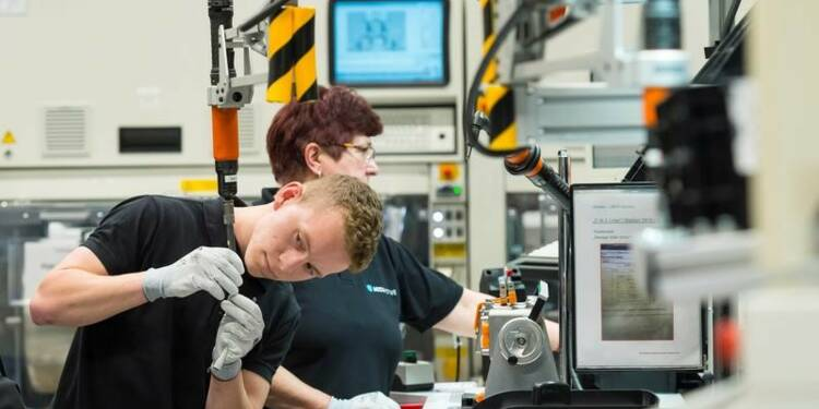Baisse inattendue de la production industrielle en Allemagne