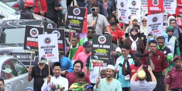 Statut de Jérusalem: manifestations en Malaisie