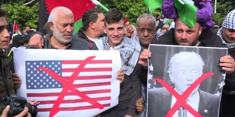 Manifestations au Moyen-Orient contre la décision de Trump