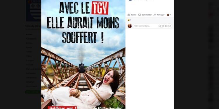 L'hallucinante campagne de pub de Robert Ménard pour le TGV