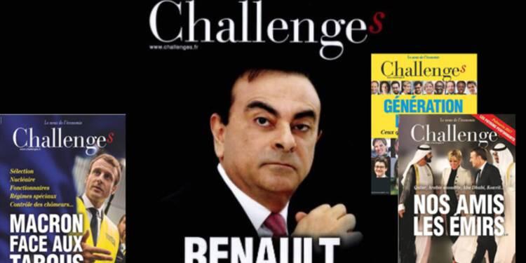 Pourquoi Challenges a besoin de l'argent frais de Renault